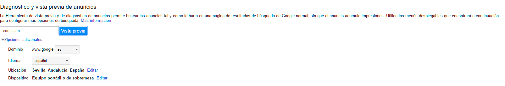 consulta virtual adwords