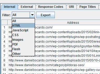 filtro html