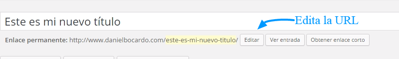 URL es igual al título en WordPress