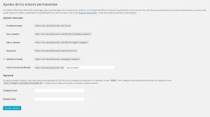 enlaces permanentes wordpress