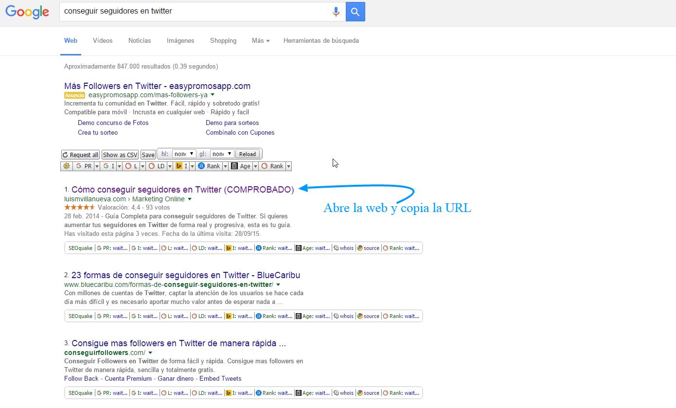 Copia la URL de Google