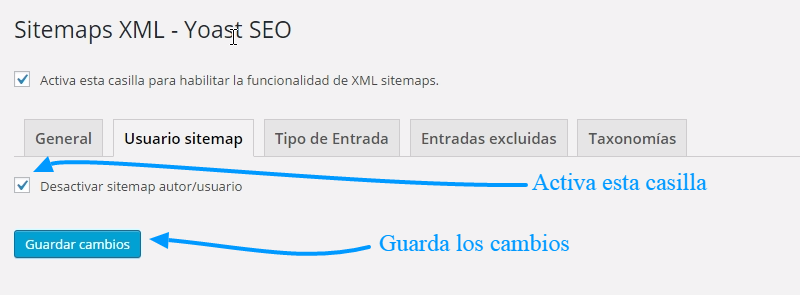 Cómo crear un sitemap.xml con SEO WordPress by Yoast 2