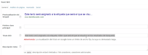 Etiqueta title optimizada por SEO WordPress by Yoast