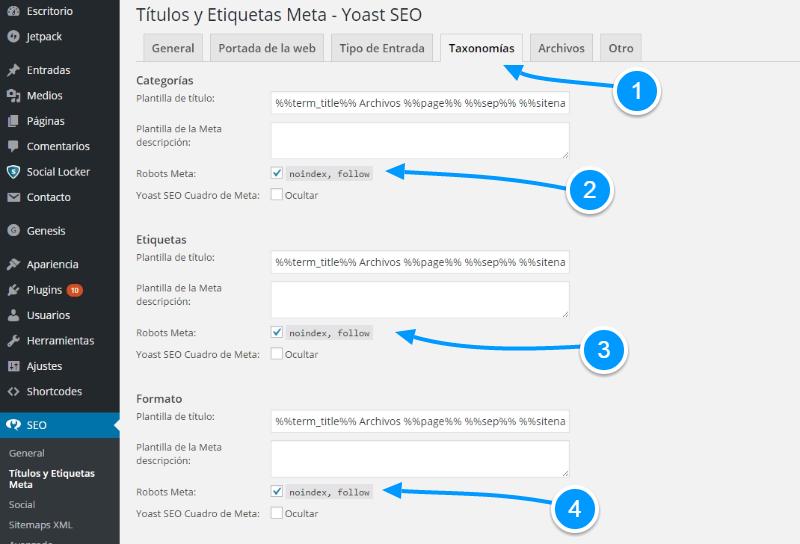 Cómo evitar contenido duplicado en WordPress