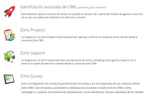 Aplicaciones del CRM Zoho