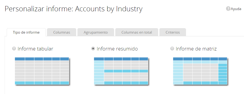 Personalizar informes en Zoho