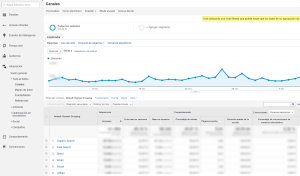 Canales Google Analytics