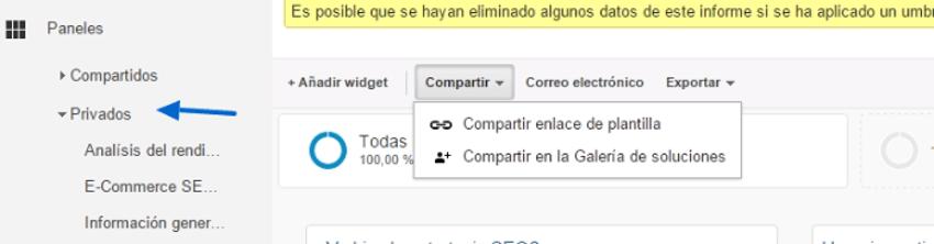 compartir informe google analytics 2